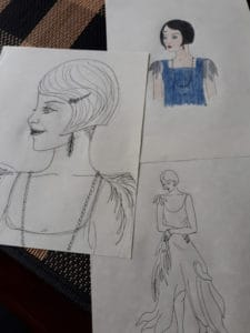 All That Jazz 1920s Sketches (c) 2017 Judith Read
